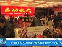 益海嘉里2020年渭南团拜会暨渭南加工厂启动仪式举行
