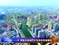 2019年1-11月 渭南市房地产开发投资高速增长