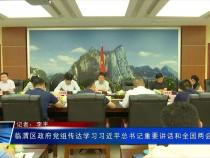 临渭区政府党组传达学习习近平总书记重要讲话和全国两会精神