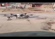 _办法总比困难多……村民利用植保无人机为村庄喷洒消毒液 !