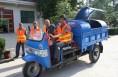 蒲城为农村配备经济实用的垃圾收集车