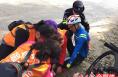 韩城首届沿黄公路自行车赛上的温情一幕