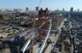 历时77小时 韩城近118米大桥景观主塔实现竖转
