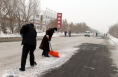 白水公路段迅速清除积雪保畅通