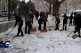 临渭区连夜启动降雪应急响应 50000余名干部群众街头清雪保通畅