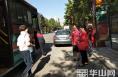 潼关县开展交通文明劝导志愿服务活动