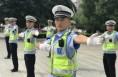 澄城县交警大队加强交警手势训练 力促队伍规范化建设
