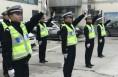 澄城县交警开展队列及交通指挥手势训练 强化队伍建设