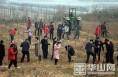 大荔朝邑镇:开展冬季植树造林千人大会战