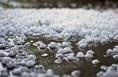 4日晚上7时  大荔县部分乡镇突降冰雹