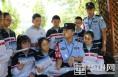 开学第一天 大荔公安防范新型电信网络诈骗宣传进校园