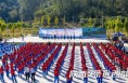 黄河岸边多了一群蓝色身影 陕西400余名志愿者身体力行保护母亲河