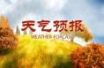 明天全省阴天间多云,局部有小雨或阵雨