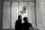 大荔县举行纪念红军长征胜利八十周年书画展