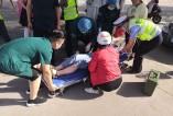 华州区:两车相撞 警医协作及时救治伤者
