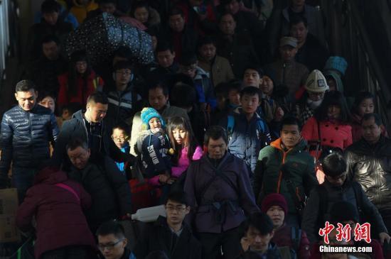 中国春运开启 40天里旅客发送量近30亿人次