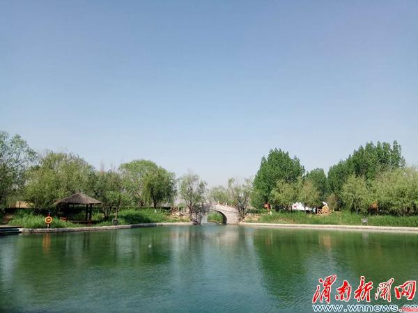 渭南洽川景区莘国水城