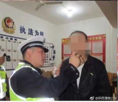 大荔男子节日酒驾心存侥幸 结果被警方逮个正着