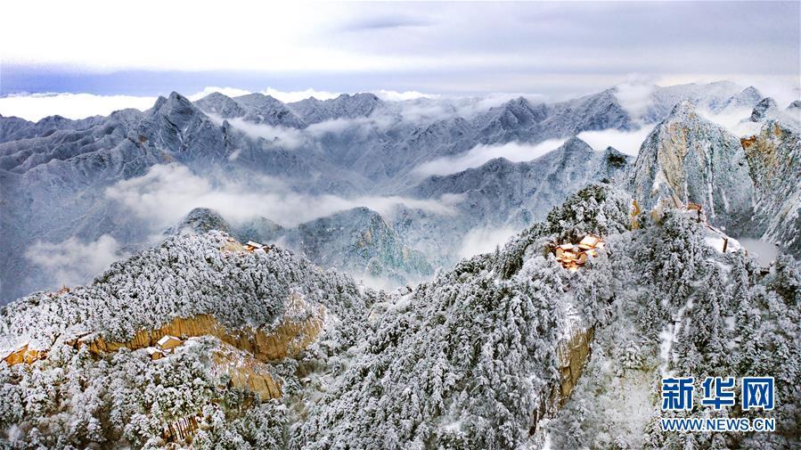 (美麗中國)(5)雪后華山 冬日畫境