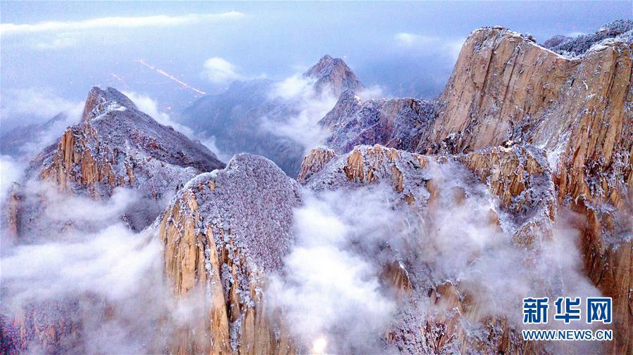 (美麗中國)(3)雪后華山 冬日畫境
