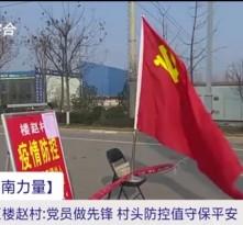 渭南经开区楼赵村:党员做先锋  村头防控值守保平安