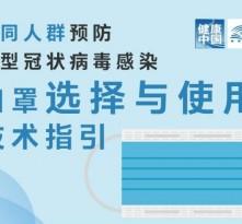 国家卫健委发布不同人群选用口罩指引