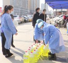 爱心单位为渭南广播电视台捐赠防疫物资