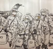 富平教育战疫情系列书画作品展示