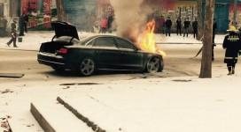 零下4度奥迪车自燃了