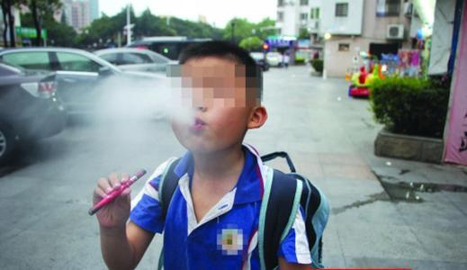 孩子烟入侵小学一帮校园吞云吐雾电子裕中图片