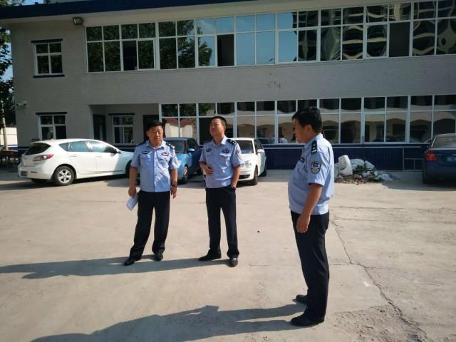 澄城县公安局副局长,交警大队大队高永斌深入基层中队