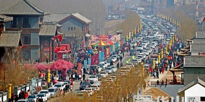 大荔同州湖景区正月初一游客达到13.9万人次