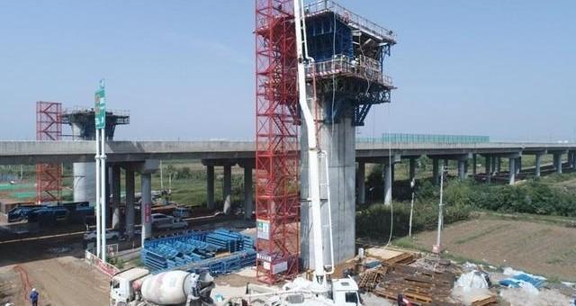 西韩城际铁路首个连续梁0块成功浇筑