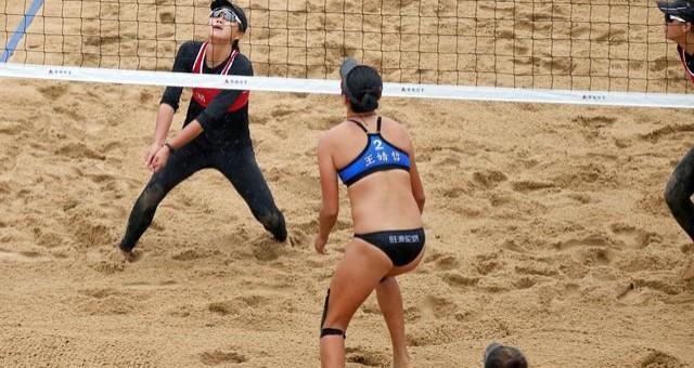十四运会沙滩排球项目在渭南大荔开赛
