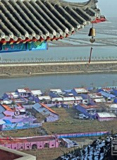 大荔县黄河湿地鸟瞰看多彩渔村如此娇