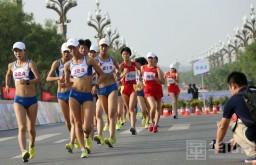陕西省2016年竞走挑战赛在大荔举行