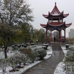 渭南南小桥沋河公园雪景令人醉