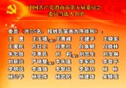 中国共产党渭南市第五届委员会委员当选人名单