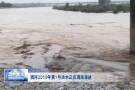 渭河2019年第1号洪水正在渭南演进