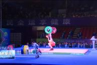 十四运会举重项目男子七十三公斤级比赛在渭举行