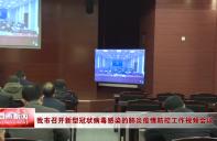 我市召开新型冠状病毒感染的肺炎疫情防控工作视频会议