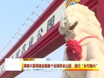 """渭南大荔将建全国首个全域农业公园   践行""""乡村振兴"""""""