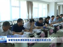 省督导组来渭检查危化企业搬迁改造工作