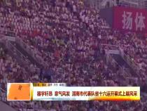 器宇轩昂 意气风发 渭南市代表队省十六运开幕式上展风采