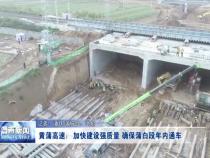 黄蒲高速:加快建设强质量 确保蒲白段年内通车