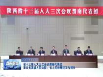 省十三届人大三次会议渭南代表团审议省高级人民法院、省人民检察院工作报告