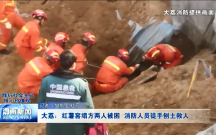大荔:红薯窖塌方两人被困 消防人员徒手刨土救人