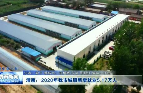 渭南:2020年我市城镇新增就业5.17万人